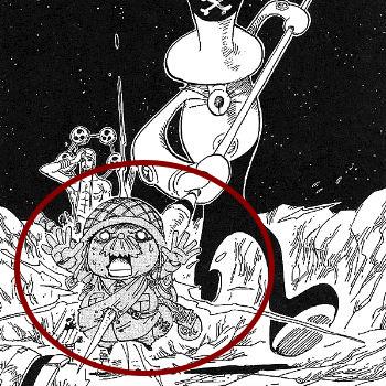 エースの扉絵伏線:月の古代遺跡とロボット
