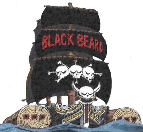 黒ひげの船「サーベルオブジーベック」